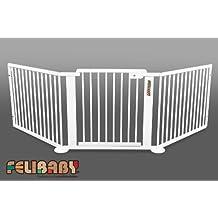 ONE4all 1+2w cancelletto di sicurezza scala, barriera di accesso (BIANCO)