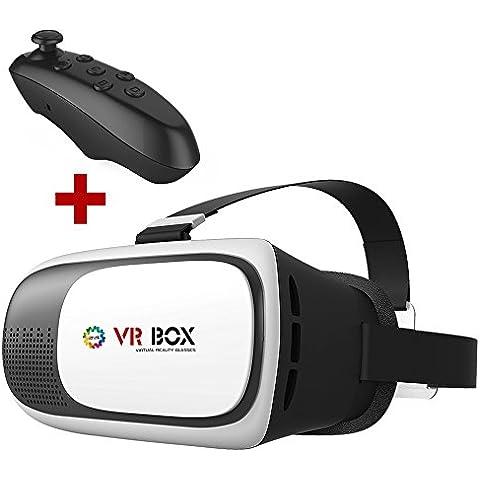 CST-09 VR BOX 3D gafas + Remoto Controlador VR Realidad Virtual 3D Gafas de Vídeo 3d,4.0 a 6.0