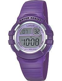 Lorus R2385HX9–Children's Clock, Polyurethane Strap Purple