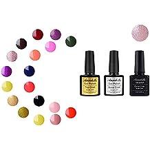 Annabelle (Base & Top Coat + one color)Esmaltes Permanentes Para Uñas Nail Art Soak Off UV LED Esmalte Permanente de gel (Lot 3 pcs 7.3ML/pc ) 1326