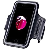 CEUTA , [ Arm Belt For Mobile ] Phone Arm Pouch | Water Proof Hand Fitness Gym Mobile Case For Running Jogging Sports & Gym Activities | Compatible With iPhone, Vivo, Oppo, Samsung Note, Sony, Motorola, Lenovo, Xiaomi Redmi, Micromax | Microsoft & Other Phones (Up to 5.7 inch) Black