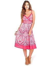 Vestido Veraniego para Dama Pistachio Plisado a la Rodilla