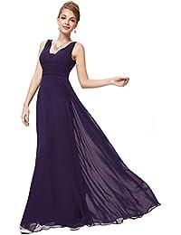 b50853d33 Ever-Pretty Escote en V Vestido de Fiesta Noche Largo para Mujer Corte  Imperio 08110