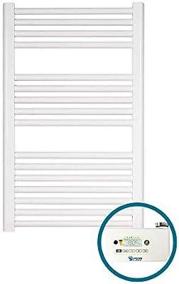 farho Secador de Toallas Electrico Nova Little Blanco 400W · Radiador Toallero Electrico Bajo Consumo · Toalleros de Baño/Calentador Toallas Digital Programable (Medidas 800 x 500mm)