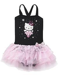 Hello Kitty Little Girl Dance Leotard Tutu Dress Black/Pink