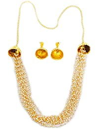 """New! Touchstone""""Rani Haar Collection"""" Long Multi Layer Indian Bollywood Finely Intertwined Faux Pearls Strings..."""