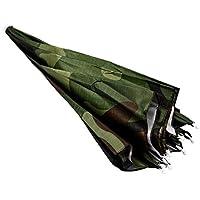 TOOGOO(R)Tapa Sombrero paraguas para lluvia sol para pescar patron del camuflaje banda de cabeza elastica