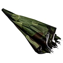 TOOGOO(R)Tapa Sombrero paraguas para lluvia sol para pescar patron del camuflaje banda
