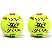 barnett OSS-1 balle de softball, baseball entraînement, 12'', JAUNE, 2 piece