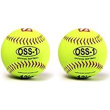 Barnett OSS-1práctica pelota de sófbol, tamaño 30cm, amarillo, 2unidades