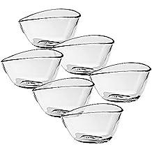 6 x Eiscremeglas, Eisbecher, Eisschale ~BETA~ transparent, 220ml, Glas (GELATO VERO powered by CRISTALICA)