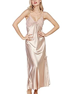 Dolamen Camicia da Notte Donna, morbida Pigiama Pigiami in Raso, Luxury & sexy della biancheria della cinghia...