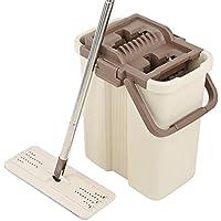 LJHA Vadrouille à plat / lavage à la main libre / humide et sec double usage / rotation / Squeeze type d'eau / lavage déshydratation syncrétique / ménage paresseux vadrouille Tournez la vadrouille
