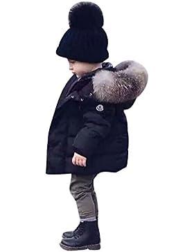 Covermason Bebé Moda Encapuchado Abrigos Otoño Invierno Cremallera Espesor Chaqueta para 0-5Años Niñas y Niños