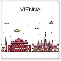Viena Austria soporte de Landmark patrón de cerámica crema decoración de decoración de azulejos para baño cocina azulejos de pared azulejos de cerámica