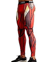 Mallas hombre compresion para culturismo, running y bodybuilding. Sin costuras y elasticas. (ironman)