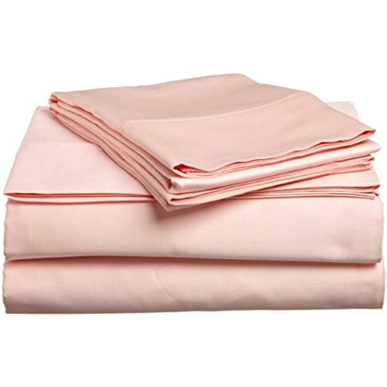 Dreamz Dreamz Dreamz Étui Parure de lit coton égyptien 300 fils Super Doux Finition élégante boîte 1 plissé longue jupe (Drop Longueur: 25,4 cm) Lit simple, motif à rayures Blanc 87d842
