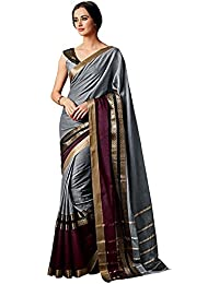 Indira Designer Women's Art Cotton Silk Saree With Blouse