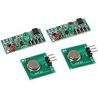 Homyl 2pcs Kit Émetteur Récepteur sans Fil Outil Réparation Antenne Externe pour Arduino 433MHZ