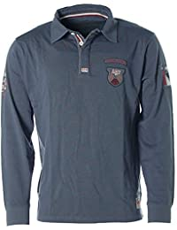 Kitaro Herren Langarm Poloshirt Polo Shirt -Special Forces Search   Rescue  Crew- e6fab812c1