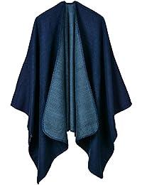 42061915f2a4 Beunique Femme Poncho Élégant Tricot Cape Ouverture Extra Large écharpe  Châle ...