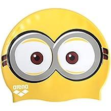 Arena Minions Jr, Cuffia Piscina infantil, Amarillo, talla única