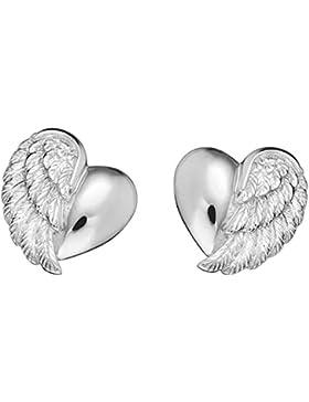 Herzengel Kinder-Ohrstecker 925 Silber rhodiniert - HEE-HEARTWING