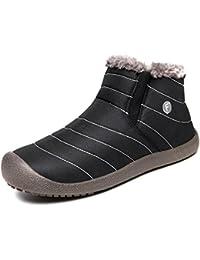 UBFEN Hombre Mujer Zapatos Otoño Invierno Botas de Nieve Senderismo Mantener Caliente Aire Libre Deportes Zapatilla Alta Botines
