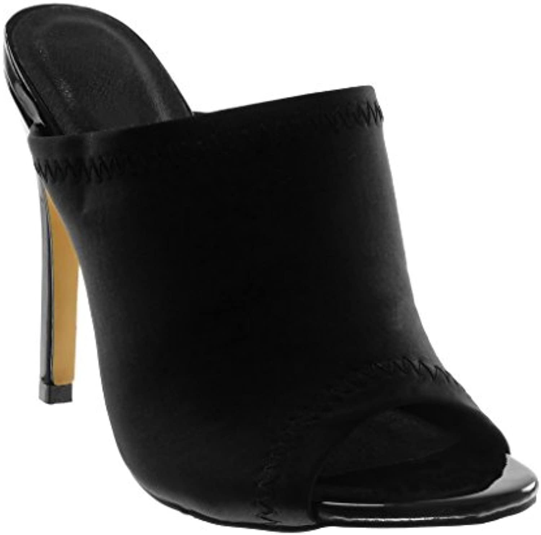 Angkorly Chaussure Mode Mule Talon Escarpin Slip-On Stiletto Peep-Toe Femme Finition Surpiqûres Coutures Talon Mule Haut...B079K34H5JParent 130f3f
