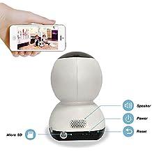Seguridad en el hogar cámara ip con visión nocturna por infrarrojos/audio de dos vías/detección de movimiento