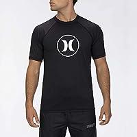 Hurley M Icon Raglan Surf Shirt S/S Lycra, Hombre, Black, XXL