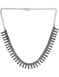 Mjjewel Oxodised Silver Plated Strand Necklace For Women