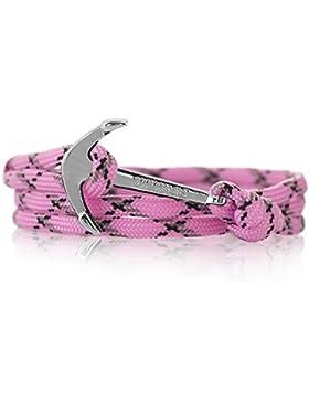 Anker Armband Nylon NEW Modeschmuck Maritim Unisex, Ankerfarbe: Silber