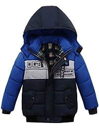 Malloom Ropa Niño Invierno Sudadera con capucha Abrigo De Algodón Engrosamiento Chaqueta