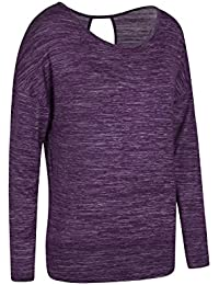 Mountain Warehouse Navasana Wrap Womens Long Sleeve Tshirt - Lightweight Tee, Quick Dry Top, High Wicking, Breathable Ladies Summer T-Shirt - For Gym, Travelling & Daily