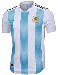 Lvbeis Copa Mundial 2018 Hombre Ropa Deportiva Fútbol Argentina Camiseta Transpirable,Small