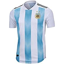 Lvbeis Copa Mundial 2018 Hombre Ropa Deportiva Fútbol Argentina Camiseta Transpirable,X-Large