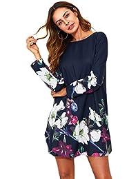 4956e142dc9e6 Amazon.es  Vestidos Cortos Con Estampados De Flores - Multicolor ...