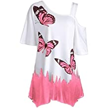 Camiseta Estampada Mariposa Mujer,S~5XL, LILICAT® Blusas Ropa Mujer Tallas Grandes