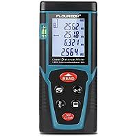 Telemetro Laser Distanziometro 0.05-40m ± 2mm Misuratore Laser Portatile con Display Retroilluminato Metro Digitale Professionale Bolle d'aria e Modalità di Pitagora per Misurare Distanza,Area,Volume,Trigonometria e Misurazioni