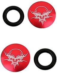 MagiDeal 2pcs Vélo VTT Crank Caps Couteaux de Pédalier Boulons de Fixation Capuchons à Vis Imperméable Accessoire