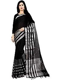 62489d62e2b44e New Saree (Dream World Woman's Linen Cotton Saree With Blouse Letest  Collection)