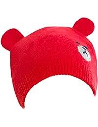 Scrox 1x Sombrero Peluche Oso Lindo Gorra Bebé Niños Creativo Gorritas Otoño Invierno recién Nacido Algodón