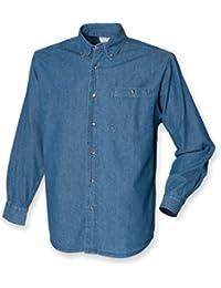 Chemis'en jean à manches longues