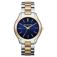 Michael Kors Slim Runway Women's Blue Dial Stainless Steel Band Watch - Mk3479, Multi Color Band, Analog Display