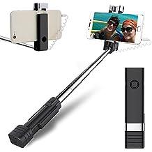 atongm Perche Selfie Mini Selfie Stick téléphone Portable Selfie Sticks Extensible Mini Tout en Un Fil Selfie Stick pour téléphone Portable (iPhone, Android)