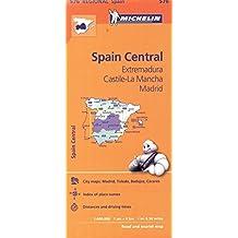 Michelin Spain: Central, Extremadura, Castilla-La Mancha, Madrid / Espagne: Centre, Extremadure, Castille-La Manche, Madrid Map 576 by Michelin (April 01,2012)