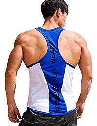 b7efd4c31c6f9f Harri me Men s Muscle Gym Fitness Y Back Stringer Tank Tops Bodybuilding  Workout Sleeveless Vest Shirts