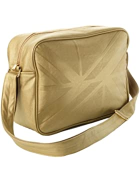 Ben Sherman Herren Kunstleder Courier Schultertasche Messenger Bag Gold