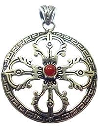2b65e2f3cb77 Collar Amuleto Colgante para Mujer Hombre JOYERÍA Unisex Collar Colgante  DISEÑADOR Tibetano Collar Chakra OXIDIZADO JOYERÍA